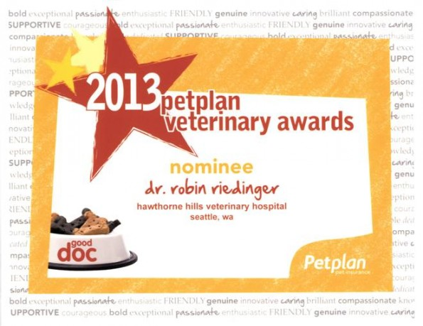 PetPlan Veterinary Nomination Award 2013