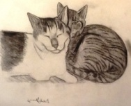 Drawing of Denali and his sister.